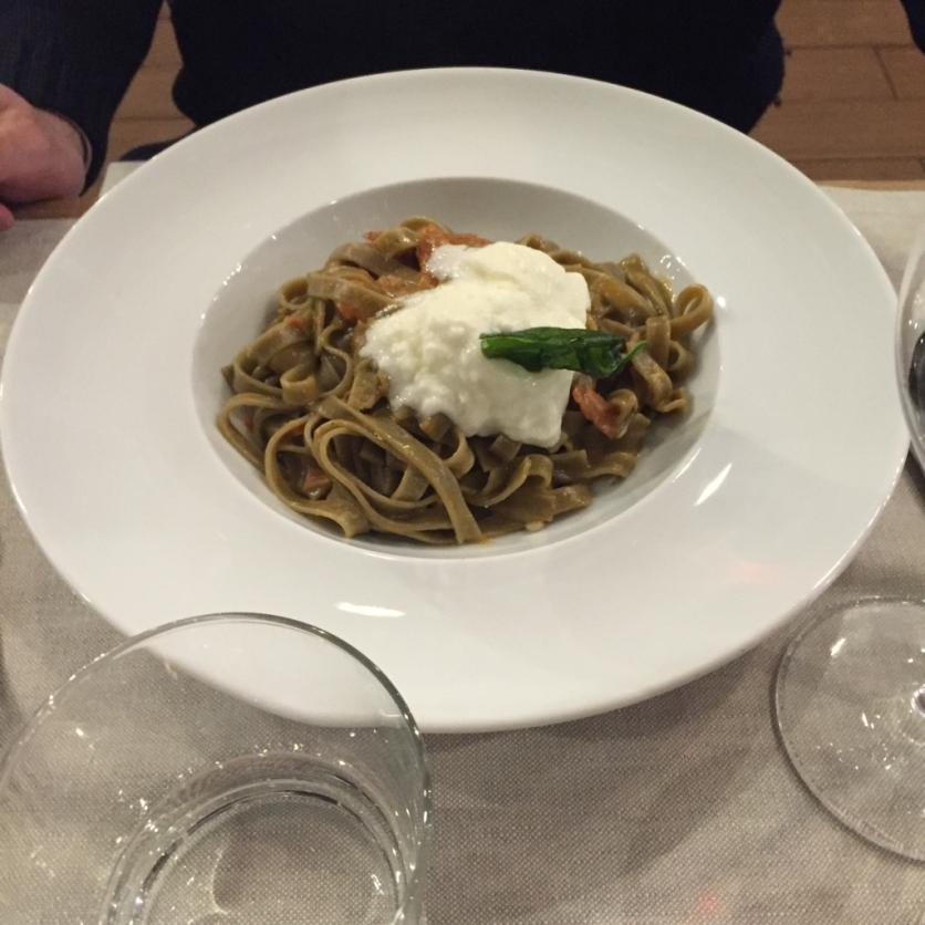 Spaghetti with pomodorini, stracciatella, ... (Photo credit: https://lavaleandherworld.wordpress.com)