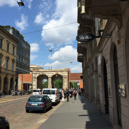 Via Manzoni, Milan (Photo credit: https://lavaleandherworld.wordpress.com)
